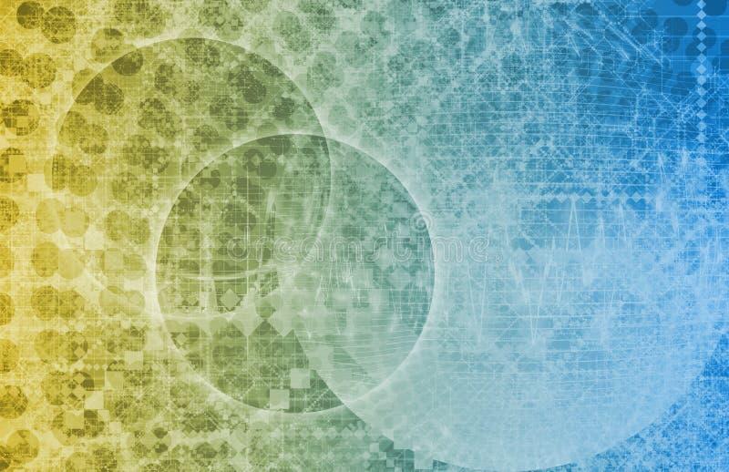 Science Fiction Alien Technology Background vector illustration