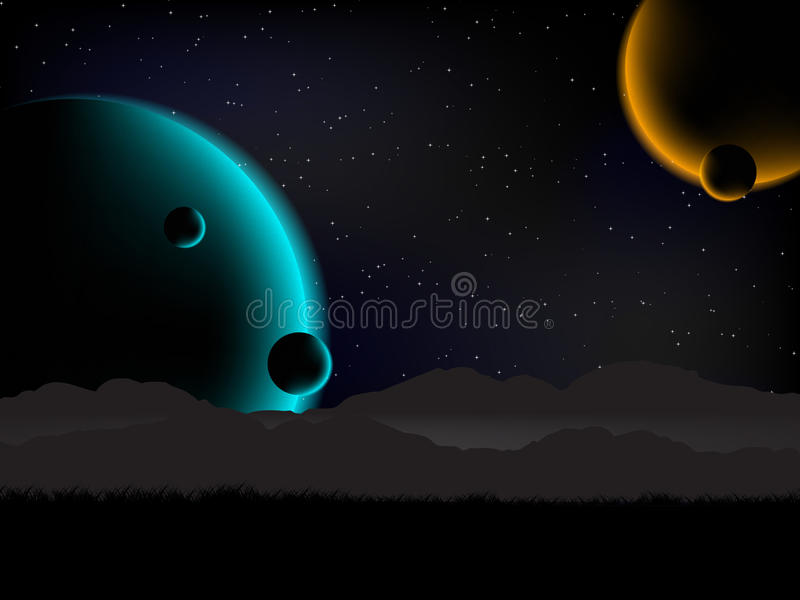 Science fiction background royalty free illustration