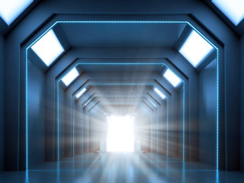 Science fiction binnenlandse scène stock foto