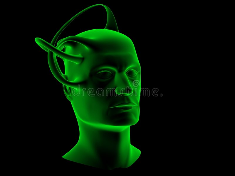 Download Science fiction head stock illustration. Image of drawing - 2274902