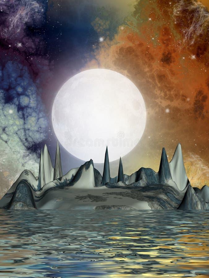 Download Science fiction landscape stock illustration. Illustration of path - 25120001