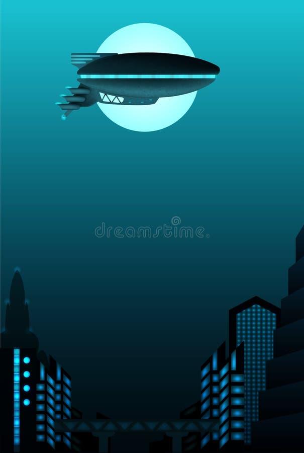 Science fiction poster design stock illustration