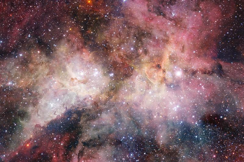 Science fiction space wallpaper, galaxies and nebulas in awesome cosmic image. Elements of this image furnished by NASA stock illustration
