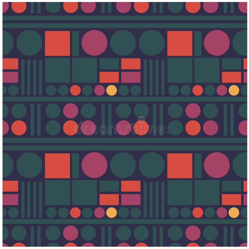 Science fiction technology seamless pattern. For web, textile and print vector illustration