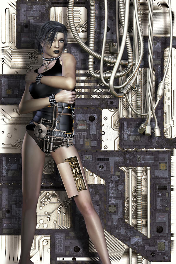 Science Fiction Woman Royalty Free Stock Photo