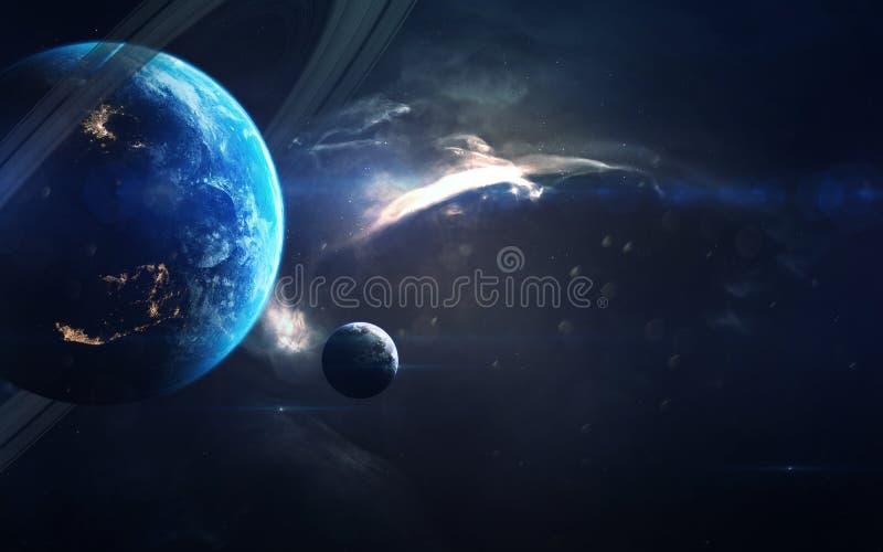 Science fictionart. Schoonheid van diepe ruimte Elementen van dit die beeld door NASA wordt geleverd royalty-vrije stock fotografie