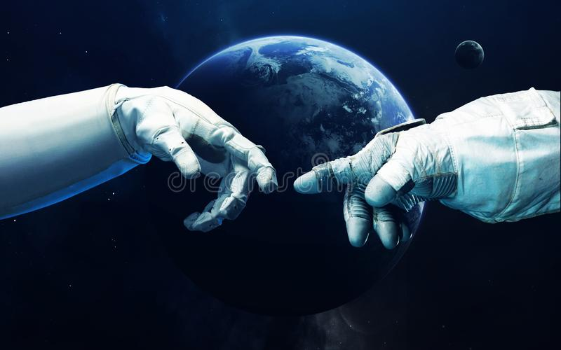 Science fictionart. Schoonheid van diepe ruimte Elementen van dit die beeld door NASA wordt geleverd royalty-vrije stock foto's