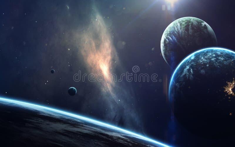 Science fictionart. Schoonheid van diepe ruimte Elementen van dit die beeld door NASA wordt geleverd royalty-vrije stock afbeelding