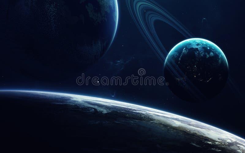 Science fictionart. Schoonheid van diepe ruimte Elementen van dit die beeld door NASA wordt geleverd stock afbeelding