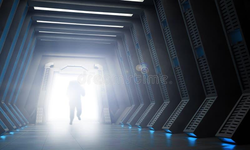 Science fictionbinnenland stock illustratie