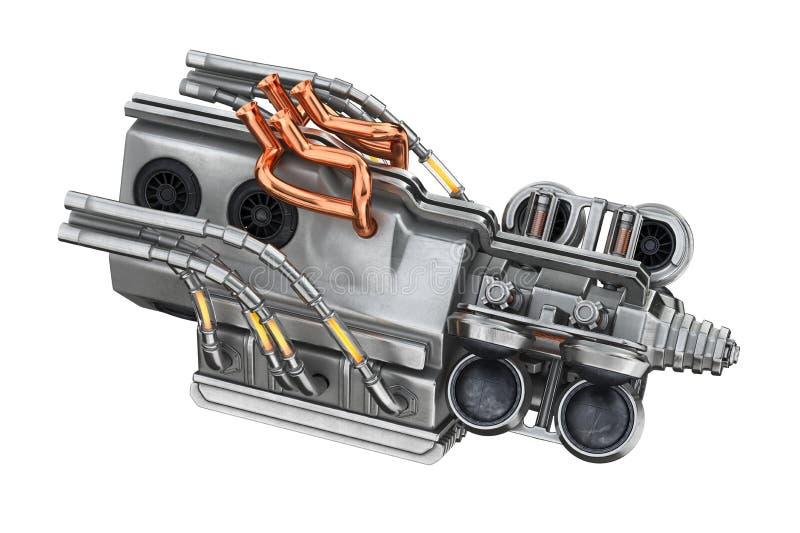 Science fictionmotormaskin royaltyfri illustrationer