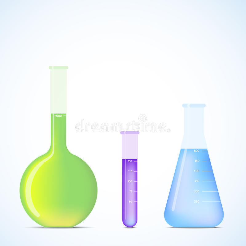Science Flasks stock illustration
