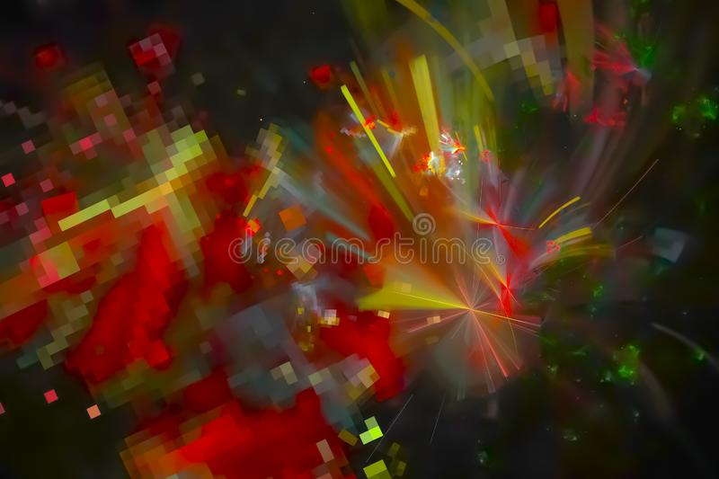 Science future intricate vibrant color line effect scientific surreal element idea effect. Fractal abstraction fantasy  movement effect     color       swirl stock illustration