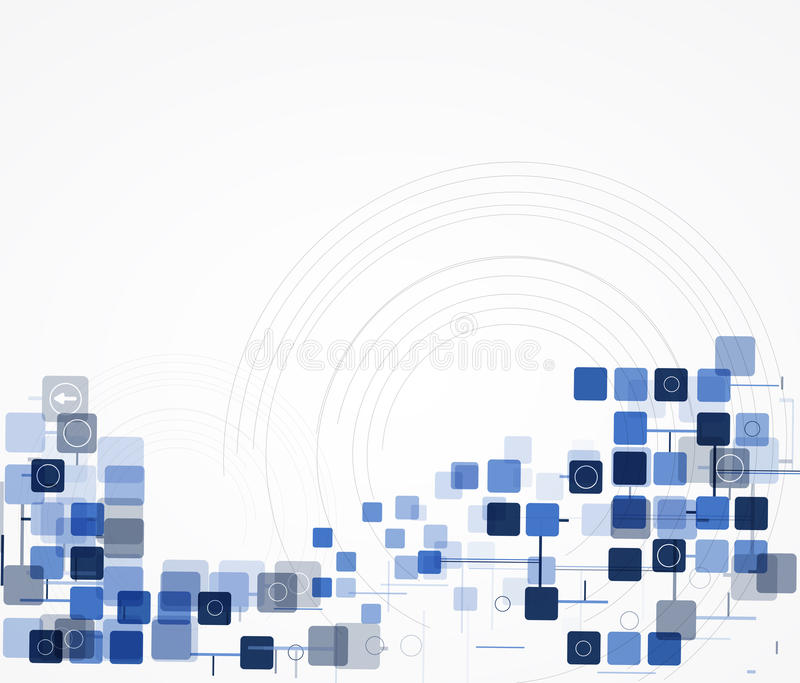 Science futuristic internet high computer technology business vector illustration