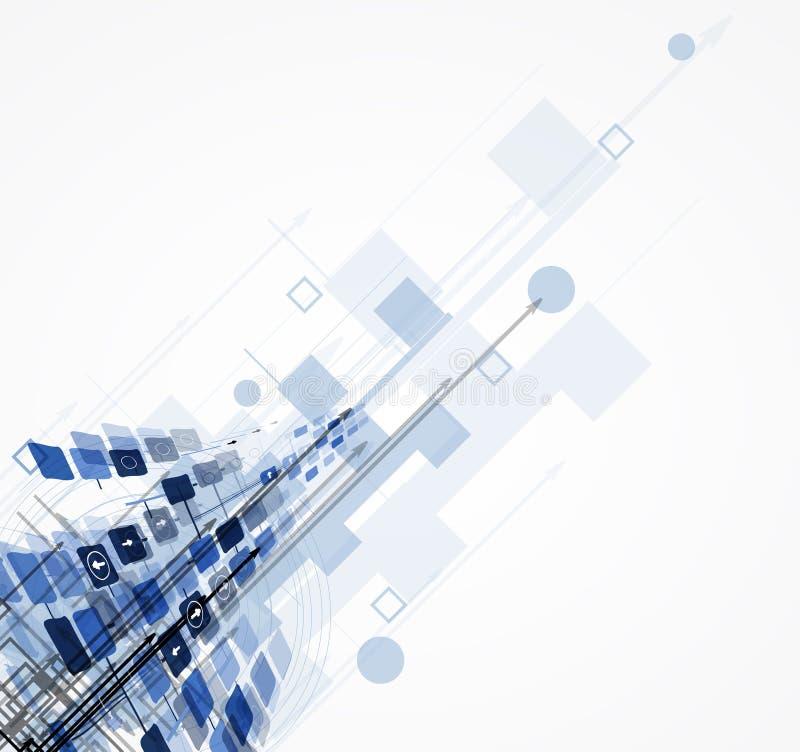 Science futuristic internet high computer technology business stock illustration