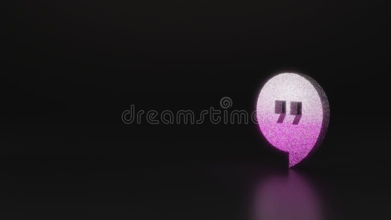 science glitter symbol of symbol icon 3D rendering stock illustration