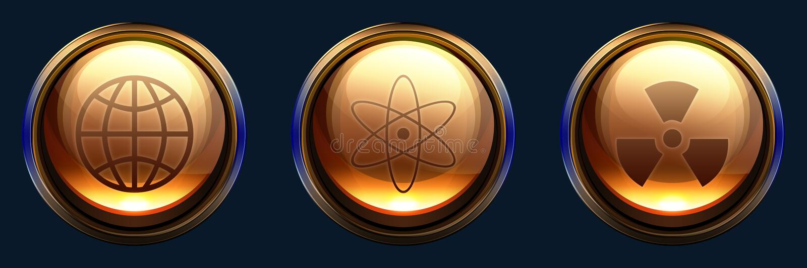 Download Science icon pack stock illustration. Image of sphere - 17193134