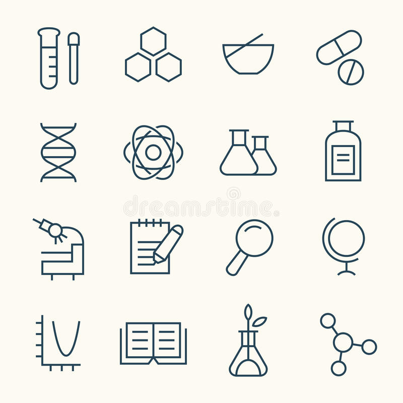 Free Science Icon Set Stock Photography - 66766502