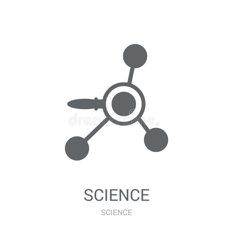 Science icon. Trendy Science logo concept on white background fr. Om Science collection. Suitable for use on web apps, mobile apps and print media stock illustration