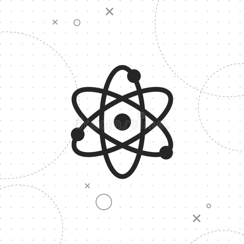 Science icon. Vector best flat icon on texture background , EPS 10 vector illustration