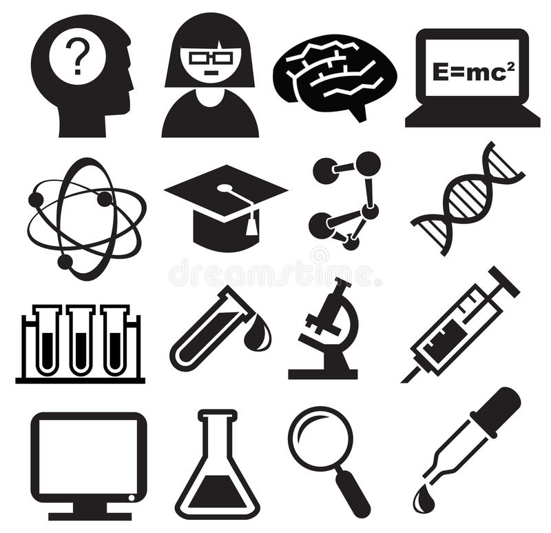 Download Science icons stock vector. Image of computer, separating - 24805543