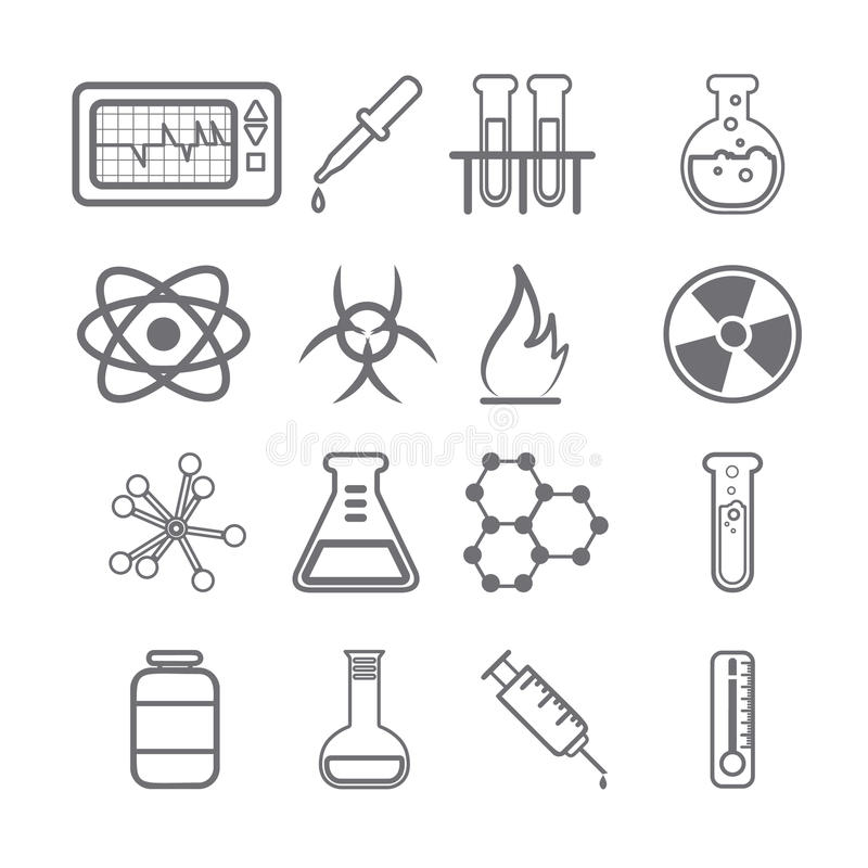 Free Science Icons Black Series Stock Photo - 41164730