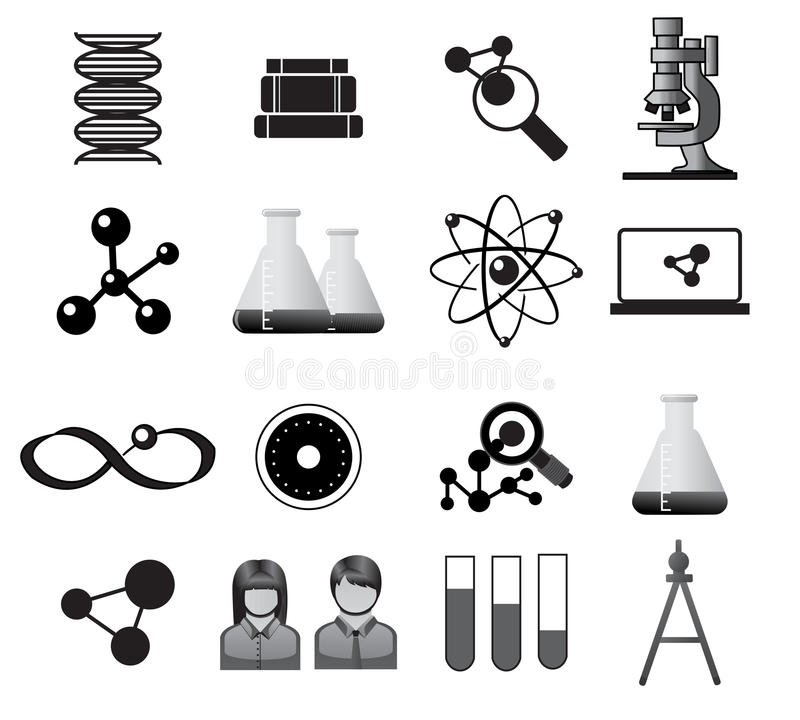 Science Icons Stock Images