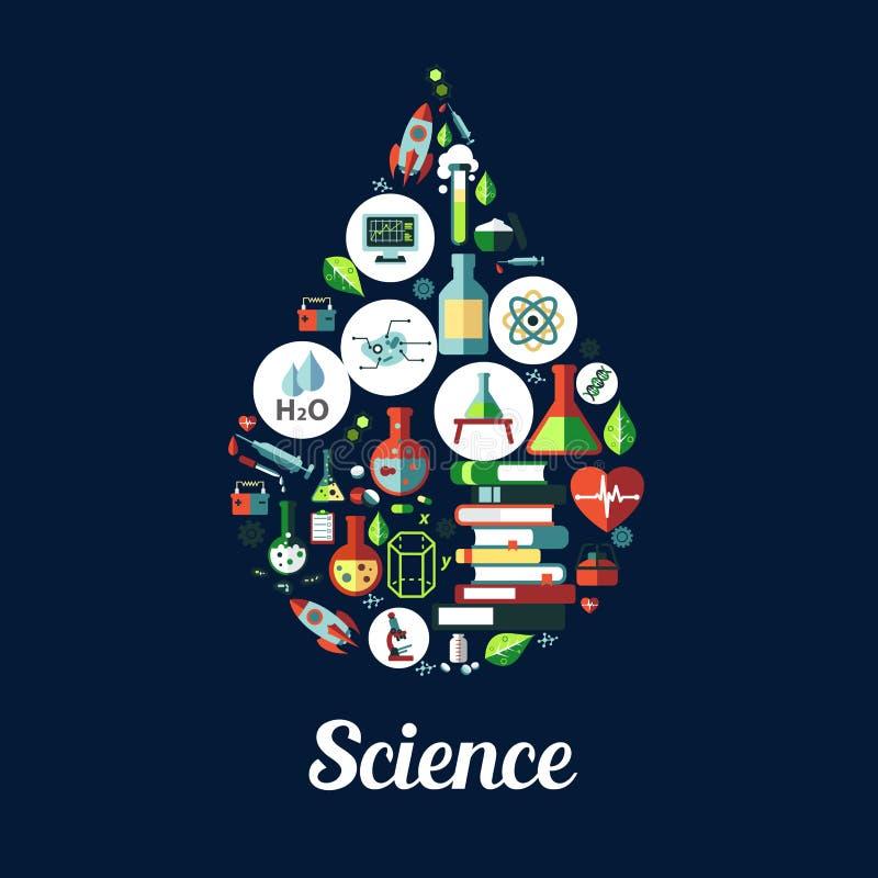 science la génétique, icône de biochimie illustration stock