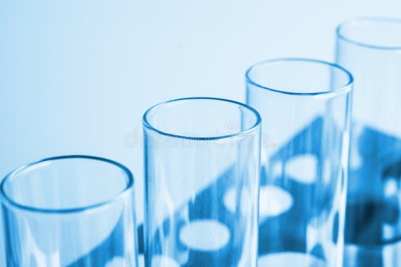 Science laboratory test tubes , laboratory equipment royalty free stock image