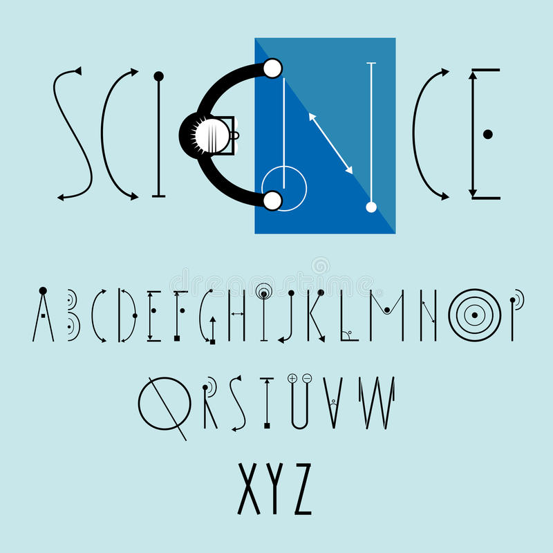 Science logo with decorative font royalty free illustration
