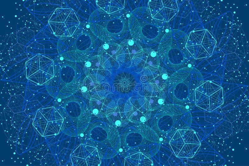 Sacred geometry symbols and elements background stock photo