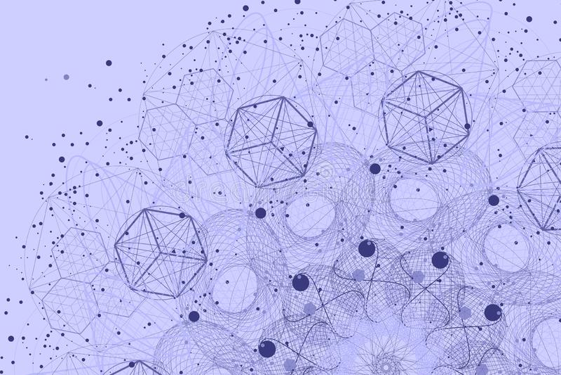 Sacred geometry symbols and elements background stock image