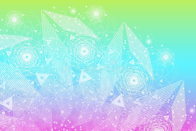 Sacred geometry symbols and elements background royalty free stock photography