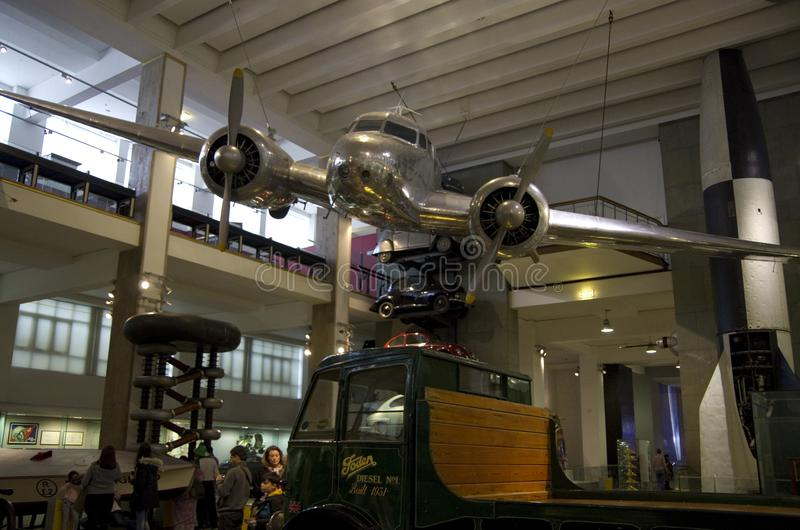 Science Museum London antique airplane royalty free stock photos