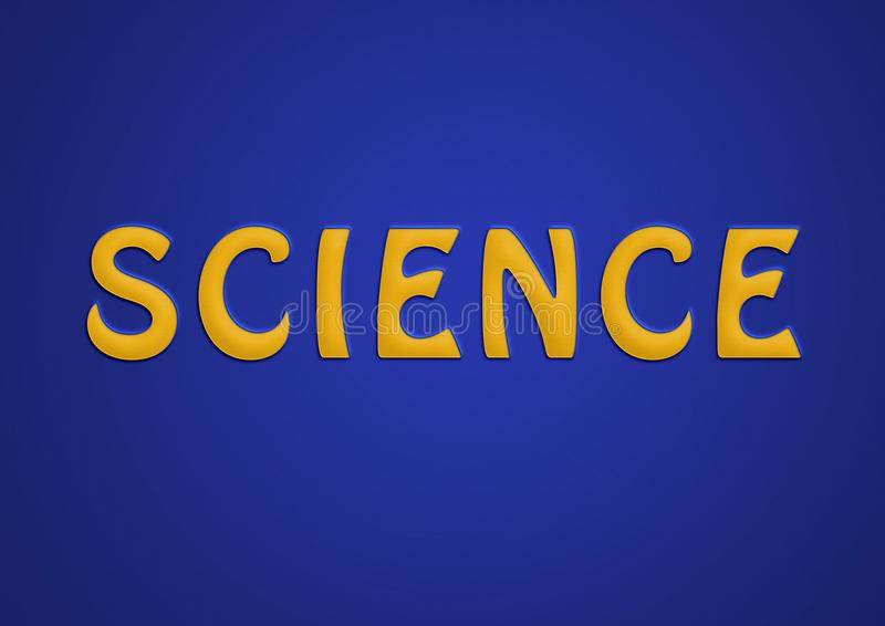 Science Paper Cutout Illustration Blue And Yellow Paper Stock
