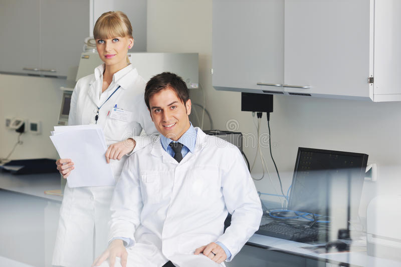 Download Science People In Bright Lab Stock Photo - Image: 19291640