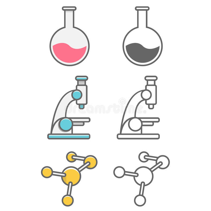 Science professions icons packs stock images