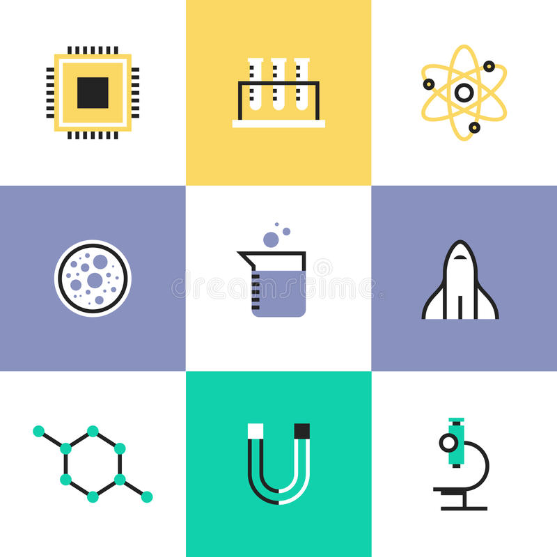 Science research and biology pictogram icons set vector illustration