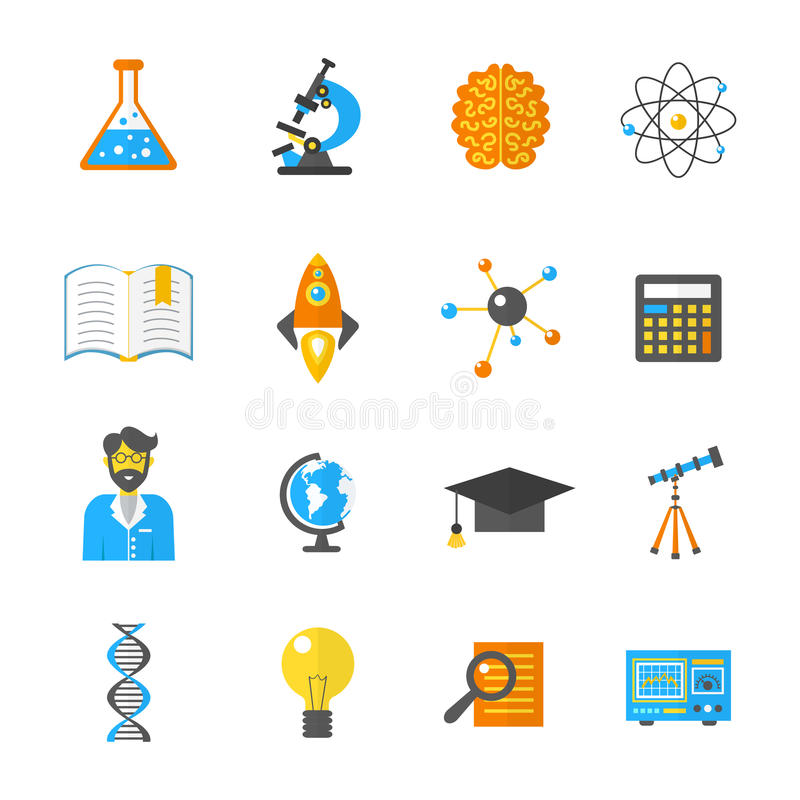 Science And Research Icon Flat royalty free illustration