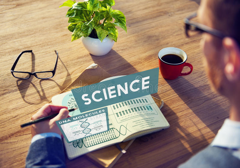 Science Scientist Study Technology Chemistry Concept royalty free stock images