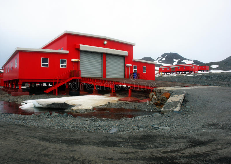 Science Station Antarctica stock images