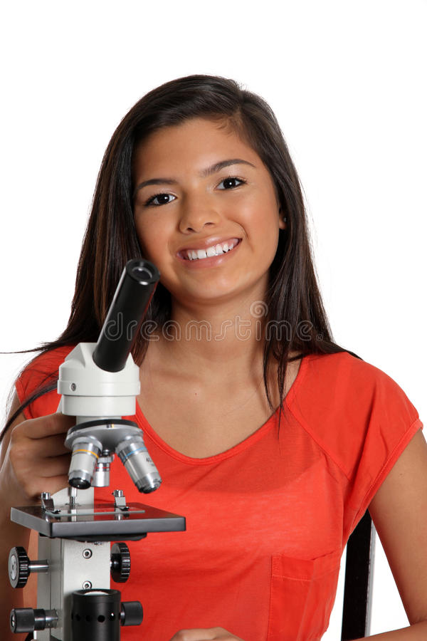 Download Science Student stock image. Image of microscope, minority - 24398719