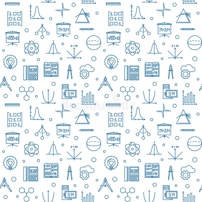 Free Science, Technology, Engineering And Math Seamless Pattern Royalty Free Stock Photo - 133034355