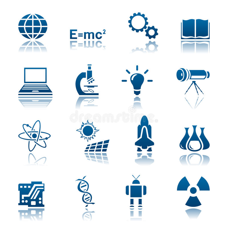 Science & technology icon set. Set of science and technology icons