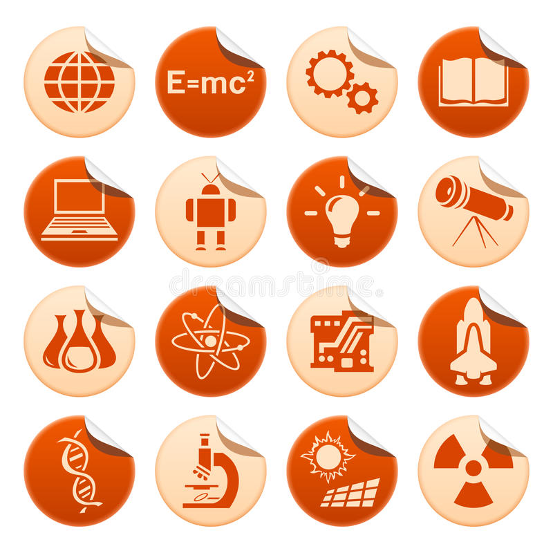 Download Science & Technology Stickers Stock Illustration - Image: 18896908