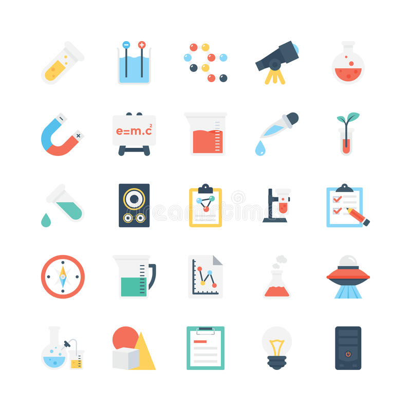 Science and Technology Vector Icons 1. Decorate your science projects, articles, publications, presentations, books, blog or web with this Science and Technology royalty free illustration