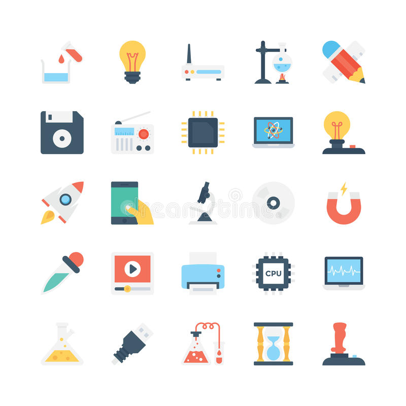 Science and Technology Vector Icons 4. Decorate your science projects, articles, publications, presentations, books, blog or web with this Science and Technology vector illustration