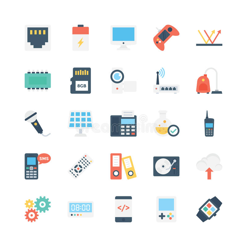 Science and Technology Vector Icons 5. Decorate your science projects, articles, publications, presentations, books, blog or web with this Science and Technology stock illustration