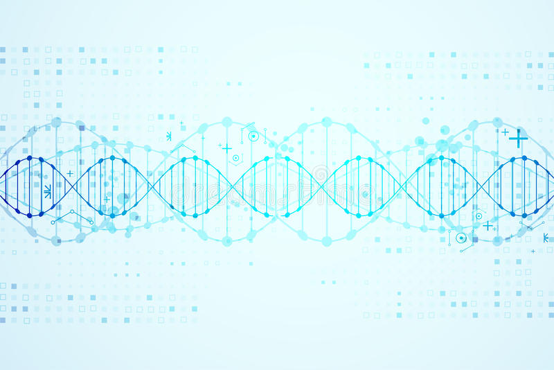 Science template, DNA molecules background. royalty free illustration
