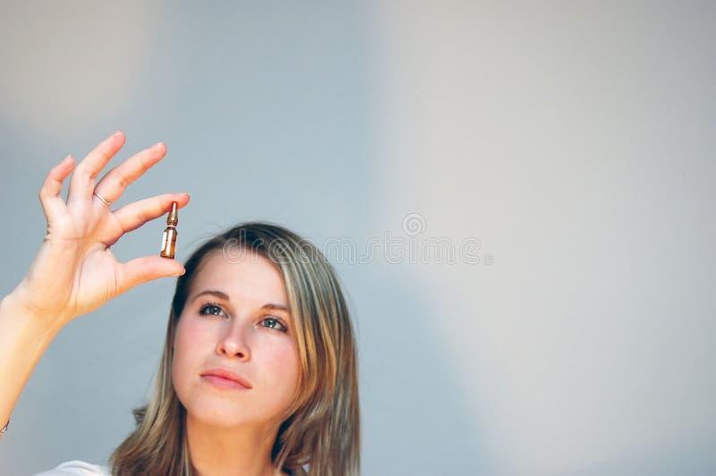 Science woman stock photo